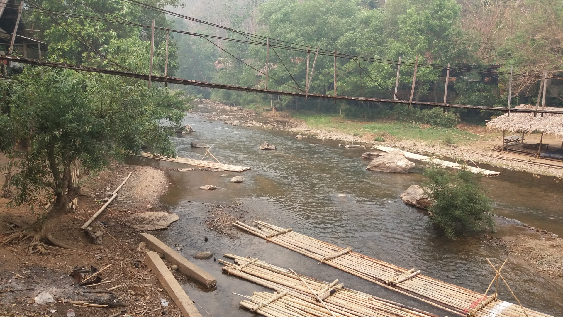 Visiter La rivière Mae Tang en rafting bambou - Thaïlande