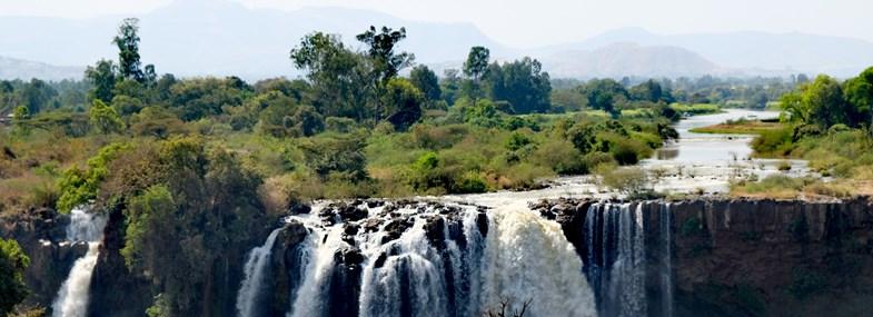 Circuit Ethiopie - Jour 13 : Baher Dar (1800m) - Chutes du Nil Bleu - Lac Tana